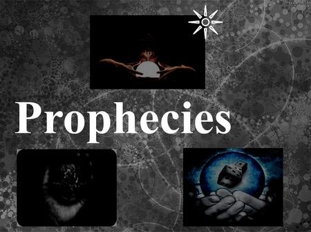 Prophecies. The prophecy of Malachi The prophecy of Malachi is a series of 112 short, cryptic phrases in Latin which describes all of the Roman Catholic.