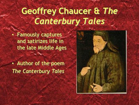 The old mans role in the pardoners tale by geoffrey chaucer