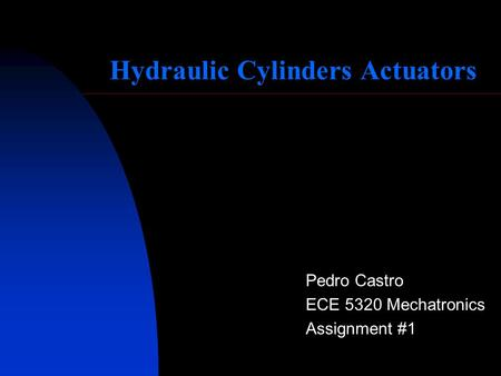 Hydraulic Cylinders Actuators