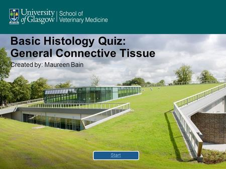 Basic Histology Quiz: General Connective Tissue Created by: Maureen Bain Start.