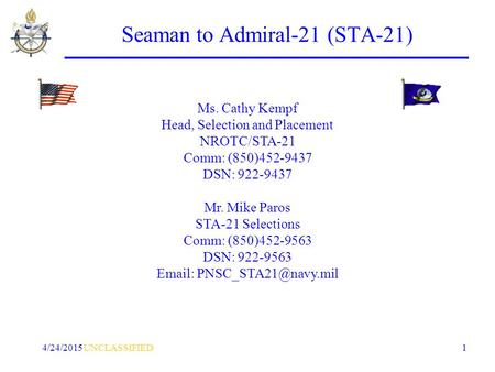 Fy17 Seaman To Admiral 21 Sta 21 Ppt Download