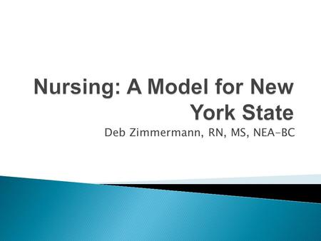 Deb Zimmermann, RN, MS, NEA-BC. Advances in science and increasing patient complexity have accelerated the need for nurses with better skills and knowledge.