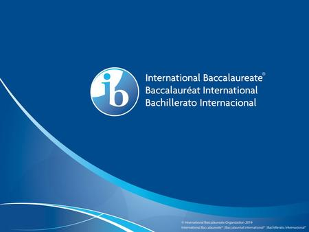 The IB Career-related Programme (CP) What you need to know about the IB and the CP.