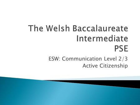 ESW: Communication Level 2/3 Active Citizenship.  What human right is being broken?