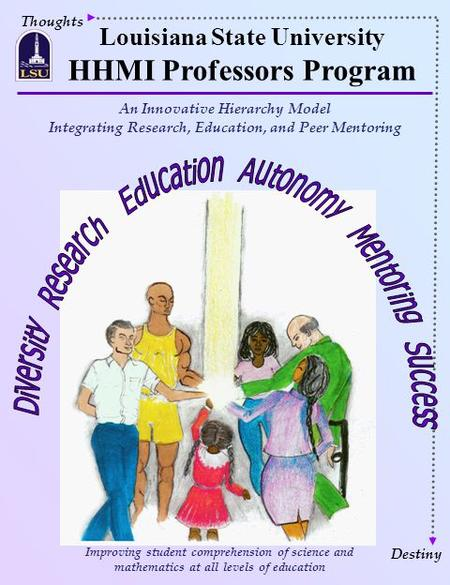 Thoughts Louisiana State University HHMI Professors Program Destiny Improving student comprehension of science and mathematics at all levels of education.
