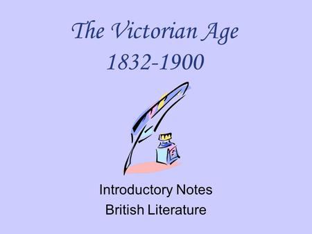 Introductory Notes British Literature