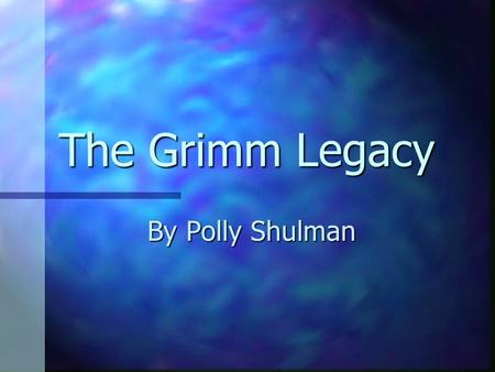 The Grimm Legacy By Polly Shulman. Book trailer …  rR7eELd4  rR7eELd4