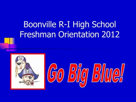 Boonville R-I High School Freshman Orientation 2012.