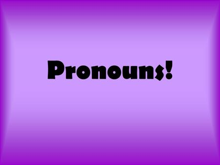 Pronouns!. What on earth is a pronoun? A pronoun is a word that takes the place of a noun or another pronoun. An antecedent is the noun a pronoun stands.