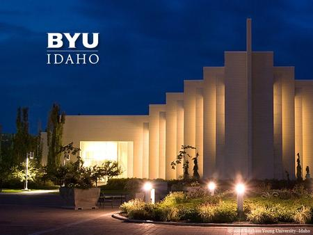© 2008 Brigham Young University–Idaho. Teacher Certification for the State of Idaho 1.Why should I certify in the State of Idaho? Reciprocal agreements.
