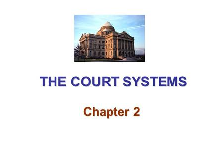 THE COURT SYSTEMS Chapter 2.