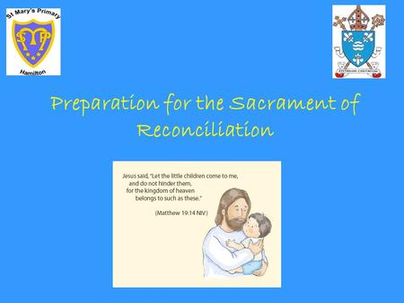 Preparation for the Sacrament of Reconciliation