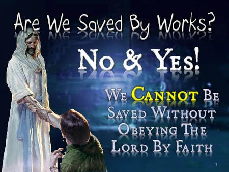"1. 2 3 ""We're not saved by the water. That's not going to save you. By grace are you saved, through what? Faith, that not of yourself, not of works,"