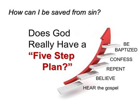 "Does God Really Have a ""Five Step Plan?"""