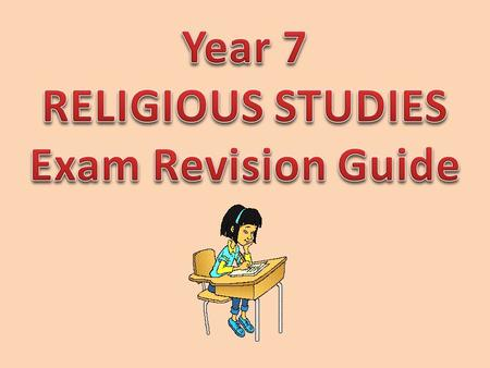year 9 religious education exam revision Religious education - year 7 end of year examination general knowledge section answer all 7 questions write 1-2 sentences for each 1 what do you understand by the phra.