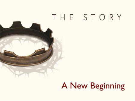 A New Beginning. Story 1: Creation Story 2-21: Israel Story 22-27:Jesus Story 28:A New Beginning.