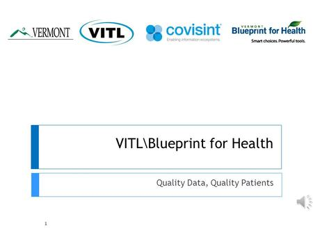 VITL\Blueprint for Health Quality Data, Quality Patients 1.