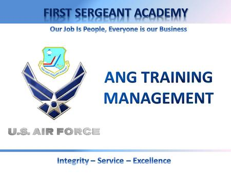 Overview  Objective of Training  Active Duty Training (ADT)  Inactive Duty Training (IDT)  Authorization & Pay  Key Responsibilities  Impact on.