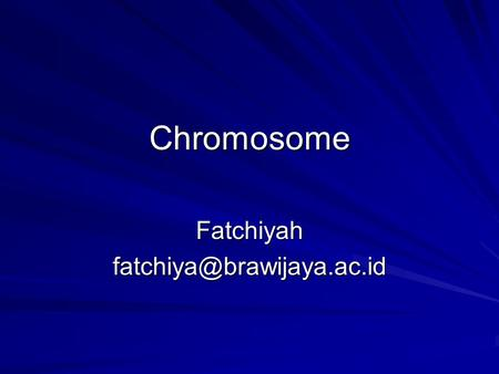 Chromosome What Exactly is a chromosome? Chromosomes are the rod-shaped, filamentous bodies present in the nucleus,