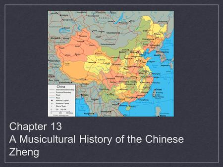 Chapter 13 A Musicultural History of the Chinese Zheng