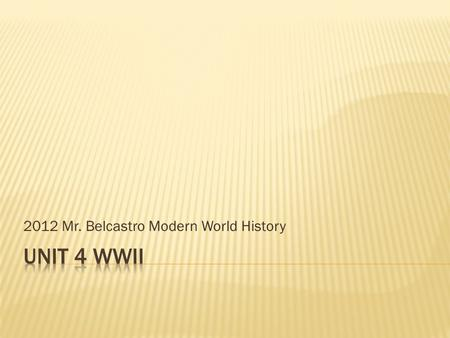 2012 Mr. Belcastro Modern World History. 1. Communists. 2. military. 3. industrialists. 4. Catholics.