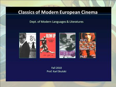 Click to edit Master title style n Click to edit Master text styles n Second level n Third level n Fourth level n Fifth level Classics of Modern European.