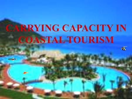 1 CARRYING CAPACITY IN COASTAL TOURISM. 2 PRESENTATION OUTLINES: 1.CONCEPT OF CARRYING CAPACITY 2.IMPACT PARAMETERS AND GUIDELINES FOR TOURISM CARRYING.