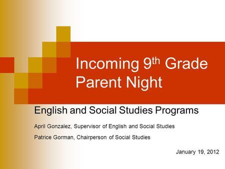 social studies coursework