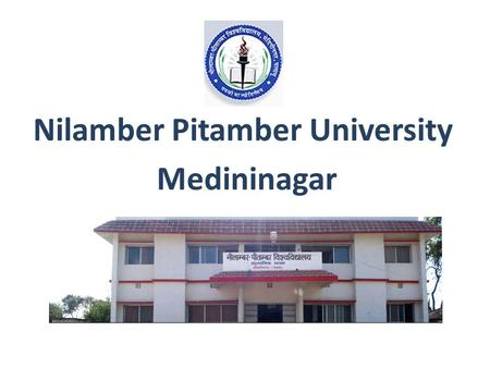 Nilamber Pitamber University Medininagar. Nilamber Pitamber University Home About Us Administration Academic Council Colleges Student Zone Faculty Publication.