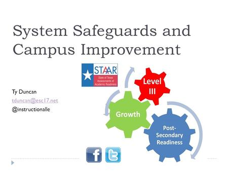 System Safeguards and Campus Improvement Ty