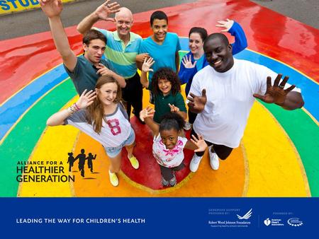 Activate Your Colleagues Sean Brock National Physical Education and Physical Activity Advisor Alliance for a Healthier Generation.