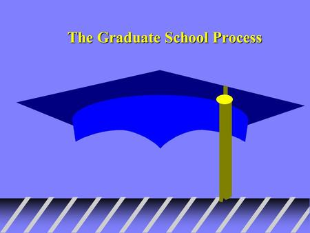 The Graduate School Process. Decide what you want to study u If not sure----You are not alone--Don't panic –Do research on career options--use counselors,