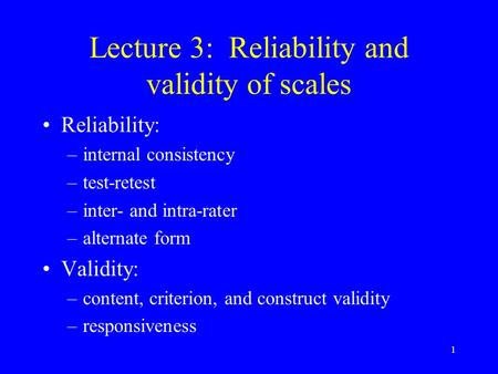 reliability and validity of the active