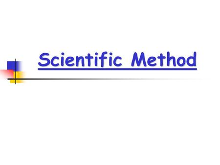 Scientific Method. Steps in the Scientific Method (SM) Observation Observation Hypothesis Hypothesis Experiment Experiment Data Collection Data Collection.
