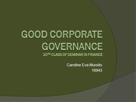 Caroline Eva Mursito 16943. Article from CRP  Theory used: Social audit Accountability  Hypothesis: Social audit is for fixing the accountability by.