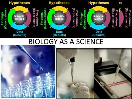 BIOLOGY AS A SCIENCE. THE SCIENTIFIC METHOD – THE UNIVERSAL SCIENTIFIC APPROACH TO PROBLEM- SOLVING.