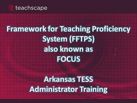 1. A Complete Solution for Evaluators 2 Framework for Teaching Observer Training Increase the reliability and accuracy of observers Deepen observer knowledge.