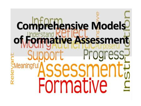 Comprehensive Models of Formative Assessment. A theory of formative assessment.