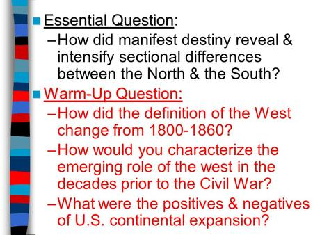 How did the definition of the West change from ?