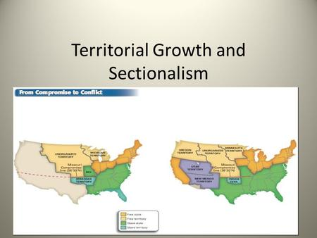 "Territorial Growth and Sectionalism. Nationalism vs. Sectionalism NATIONALISM – A BELIEF AND FEELING OF PATRIOTIC PRIDE IN YOUR NATION. ""U.S. a world."