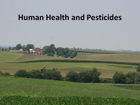 Human Health and Pesticides. Outline Pesticides are important! Health benefits Health dangers How people are exposed Pesticides and the body Specific.