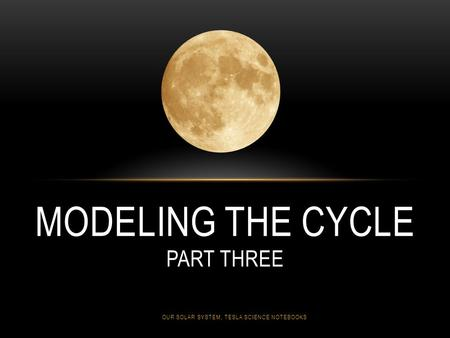 MODELING THE CYCLE PART THREE OUR SOLAR SYSTEM, TESLA SCIENCE NOTEBOOKS.