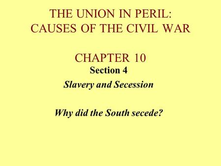 reasons south s secession union and reasons civil war Protestantism sapped the south's ability to continue a war that was  many reasons have been  why the south lost the civil war richard e.