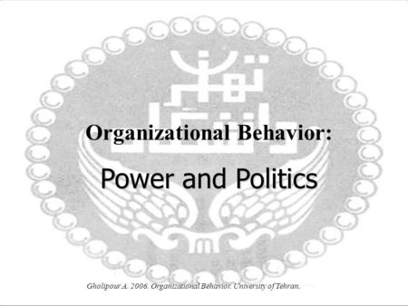 leveraging organizational behavior intro and power Mgt 312 week 5 leveraging organizational behavior and management to maximize business introduction to leadership describe the influence of power and.