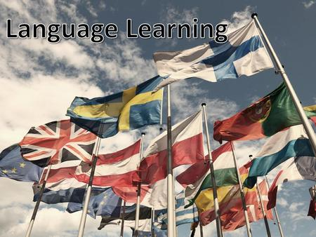 Reasons for learning another language… You can experience new cultures and meet new people If you visit a country on holiday, people respect you if you.