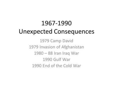 Iran iraq war causes and consequences