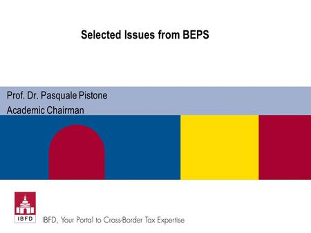 Selected Issues from BEPS
