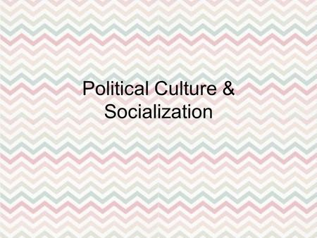 Political Culture & Socialization. Political Culture Public's ____________________ toward & their ______________ within the political system – Supportive.