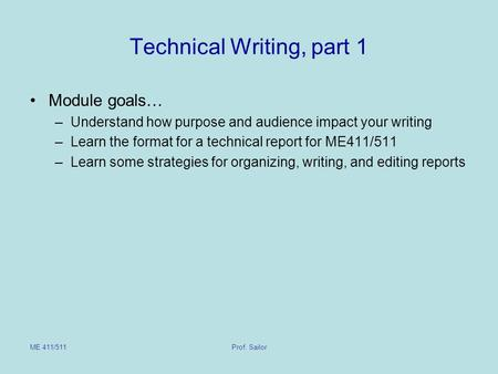 ENGL210: Technical Writing