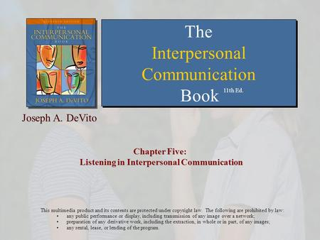 Chapter Five: Listening in Interpersonal Communication